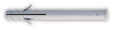 CHEVILLE NYLON LONGUE A COLLERETTE/EMBASE 8X80 POUR VIS 5.5