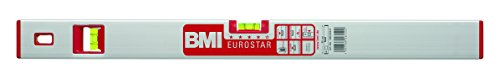 BMI BM690090ES Alu-Wasserwaage Eurostar 90 cm mit zusätzlicher V-Libelle, silber