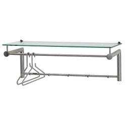 Spinder Design Suza 5 Wandgarderobe / Garderobe - 28x79x29 cm - 5 Haken - Edelstahl/Glas