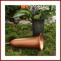 Grabvase zum stecken mit Dekor aus grauen Kunststoff Steckvase 26 cm hoch Grabschmuck Trauerschmuck