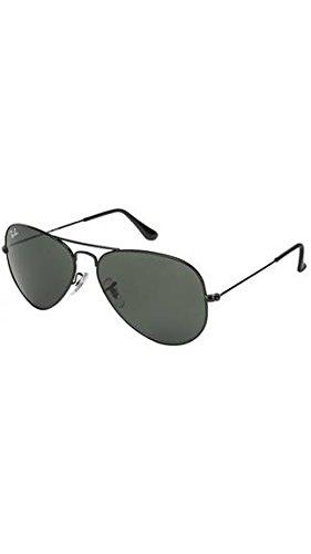 Ray Ban Non-Polarized Aviator Unisex SunGlasses (UMP-GSSGA02 Black)