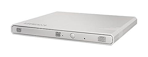 Lite-On eBAU108 DVD Super Multi DL Blanc lecteur de disques optiques - lecteurs de disques optiques (Blanc, Plateau, PC de bureau/PC portable, DVD Super Multi DL, USB 2.0, CD,DVD)