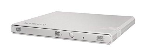 Lite-On Externes DVD-Laufwerk - External Slim USB DVD-RW (Bequeme Stromversorgung über den USB-Anschluss - SMART Burn für max. Schreibqualität - optimierte Lesegeschwindigkeit) Weiß