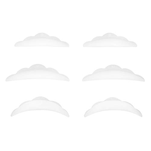 IPOTCH 3 Paar Silikon-Pads Röllchen für ein perfektes Wimpernlifting! - Größe S M L, Nachfüllpackung, Wimpernwelle, Wimpern-Curler, Silikon Curler