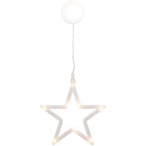 matches21 LED Fensterbild Stern/Fensterdeko zum Aufhängen/hängend Weihnachtsdeko Fenster Weihnachtsbeleuchtung warmweiß beleuchtet Ø 19 cm