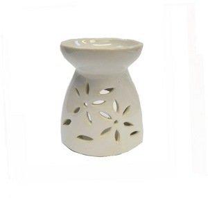 Photo de bruleur-a-huile-en-ceramique-blanc-bol