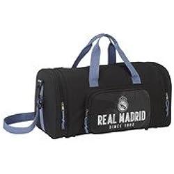 """Real Madrid Bolsa de Deporte y Viaje, 55 x 27 x 26 cm, """"Black"""""""