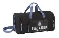 Real Madrid Bolsa de Deporte y Viaje, 55 x 27 x 26 cm,Black