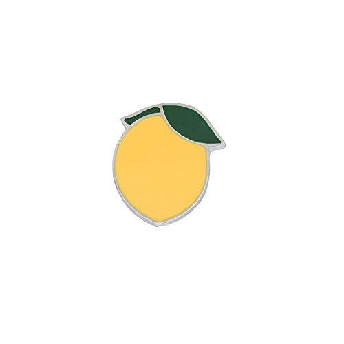 Brosche Fruit Collection Apfel Birne Zitrone Wassermelone Avocado Heidelbeere Erdbeere Pin Emaille Abzeichen Metallknöpfe Schmuck, 2,2 * 1,8 cm