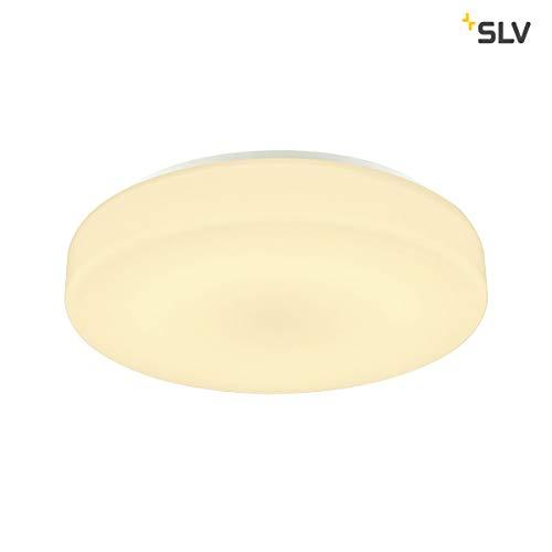 SLV Lipsy 40 Drum CW Applique murale et plafonnier LED d'extérieur en aluminium Blanc IP44 3000/4000 K 18 W