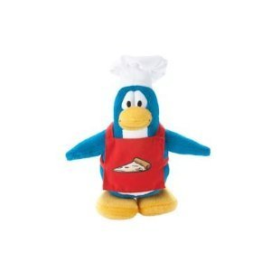 Disney Club Penguin 6.5 Inch Plush Figure Pizza Chef Series 14 Includes Coin with Code! by Jakks