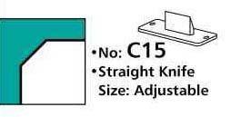Werkzeug für Eckenstanze E6 gerades Messer 45 ° Winkel mm C 15
