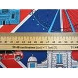 """Benartex Kanvas Studios """"mejor de gran bretaña por Greta Lynn–de gran bretaña best-c 6327. Algodón Quilting tela 50x 110cm (múltiples pedidos se corte como una longitud continua)"""