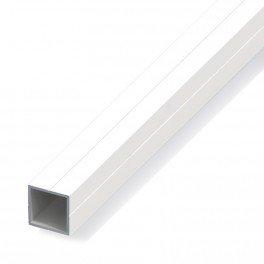 Tube carré de 0.3m 23.5 pour m20 pvc blanc - structure modulaire