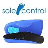 Sole Control 3/4 Ultra ligeras plantillas ortopédicas, almohadilla de gel efecto bola hasta el talón, soporte para el arco (S (EU 37-39.5))