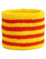 Digni® Poignet éponge avec drapeau Espagne Catalonie, pack de 2