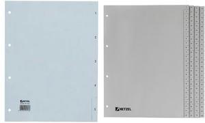Rexel Zahlenregister aus PP Folie für A4, 226 x 297 mm, 31 Blatt, 1 Stück, grau