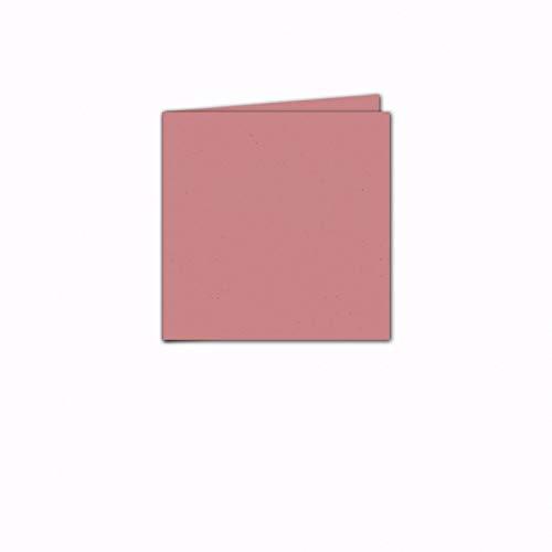 Faltkarte/Doppelkarte - Greenline Pastell Misty Rose / 100 Stück/Quadratisch 155 x 155 mm