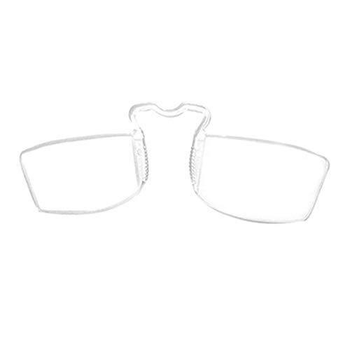 YUNCAT Pince Nez Stil Nase Stillstehen Pinching Portable Lesebrillen/Keine Spiegel Beine Lesung Brille +1.00 +1.50 +2.00 +2.50 +3.00