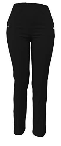 sockenhimmel Thermohose Damen - Winterhose - Outdoor- Funktionshose mit Stretch Innenfutter aus Mikrofleece (52-54, Schwarz)