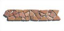 BO-556 Marmor Bordüre Bruchstein Mosaikfliesen Naturstein Bad Fliesen Lager Verkauf Stein-Mosaik Herne NRW