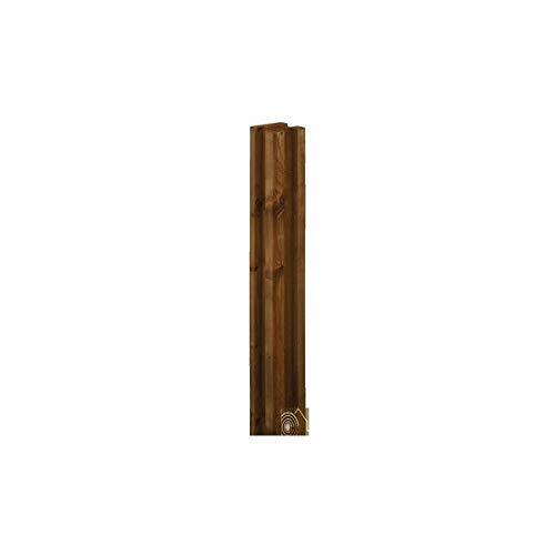 Sud Bois - Poteau de clotûre rainuré 3R en Pin Traité Autoclave Classe 4 69x69mm 2.40m