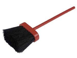 Red handled hearth brush