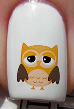 Triste hibou Orange - Stickers pour ongles YRNAILS