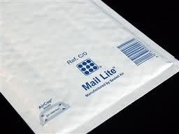 20 x C/0 Weiß Mail Lite Gepolsterte Briefumschläge, Bubble Wrap Gefüttert Mailers