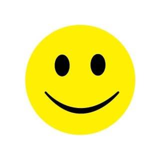 50 Stück Smiley Faces Sticker (Belohnung Sticker) ø 5cm, Aufkleber Fröhlich Smilies, ES-SMI-0090-5-50