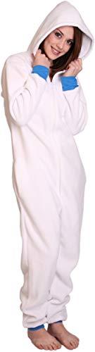 Funzee Einteiler Polar, Schlafoverall,Strampler für Erwachsene,Overall,Kuschelanzug,Ganzkörper Pyjama, körpergrößenabhängige Unisexgrößen XS-XXL (Large)