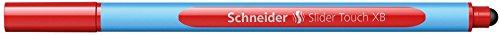 Schneider Schreibgeräte Kugelschreiber Slider Touch, Kappenmodell, XB, rot, Schaftfarbe: cyan-rot Touch-slider