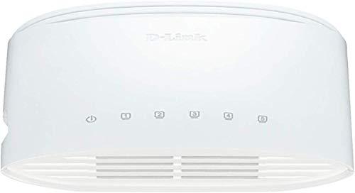 D-Link DGS-1005D 5-Port Gigabit Switch Desktop (10/100/1000 Mbit/s TP (RJ-45) Gigabit Ports, bis zu 2000 Mbit/s pro Port im Full-Duplex-Modus, lüfterlos)