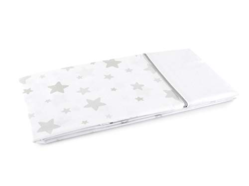 MI CASA Mi Funda Almohada Estrellas, Gris, 90 cm