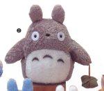 Mein Nachbar Totoro (Ghibli) Stofftier / Plüsch Figur: O Totoro (Miminzuku) mit Päckchen Grau 22 cm