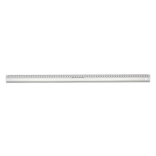 LINEX 100413072 Super Series Aluminium-Lineal mit Rutschbremse, Zeichenkante und Schneidekante, 60 cm lang