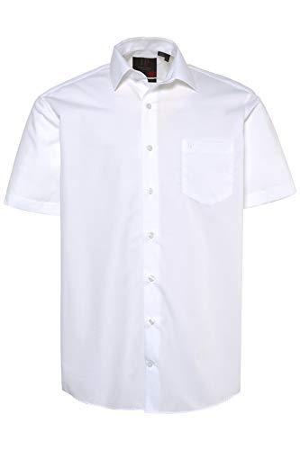 JP 1880 Herren große Größen bis 8XL, Halbarm-Hemd, Businesshemd, Popeline-Gewebe, bügelfrei, Kent-Kragen, Brusttasche weiß 3XL 713990 20-3XL