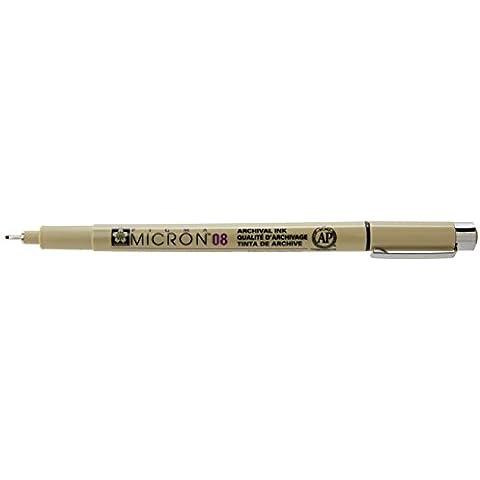 Micron Pen,Waterproof/Fade Resistant,0.50mm Point,Black, Sold as 1 Each
