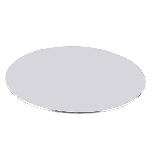 CoJoie Alfombrillas de ratón redonda aluminio Diámetro 25 cm Superficie mate Resbalón, Plata
