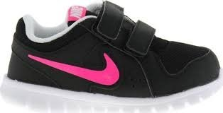 Nike Flex Experience LTR (TDV), Zapatos de Recién Nacido para Bebés, Negro/Rosa/Blanco (Black/Hyper Pink-White), 27