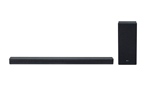 LG SK6F 2.1 Soundbar (mit FM Radio 360W mit Drahtlosem Subwoofer und DTS Virtual: X Surround Sound) schwarz