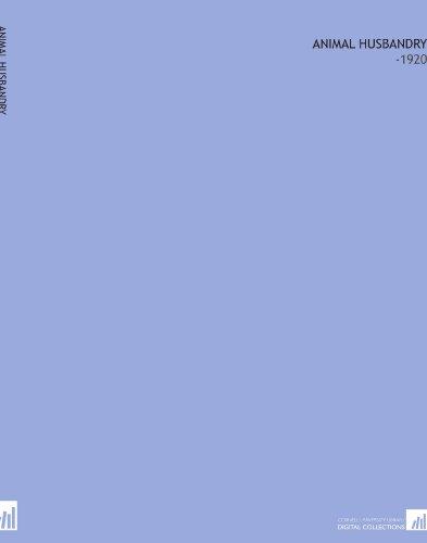 Animal Husbandry: -1920 PDF Books