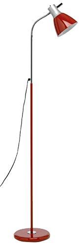 Mathias 3560518 Flexo Lampadaire E27 230 V Rouge Diamètre 22 cm Hauteur 137 cm