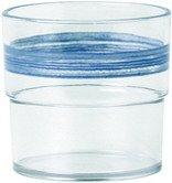 5x Waca Trinkglas BISTRO 230ml blau Pappbecher, - Schalen Bistro