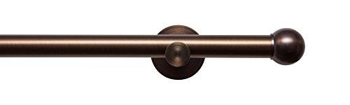 tilldekor Gardinenstange High-Line FORMENTOR, Braun-Antik, Ø 20 mm,1-Lauf, 240 cm, inkl. Trägern...