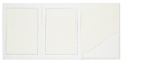 WEBAFI Foto Portraitmappe, 25 Stück weiße Leporellos, Verkaufsmappen mit Silberrand, Abgabemappen, Fotomappe