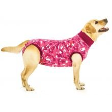 Suitical Recovery Suit Dog, Small, Pink Camouflage