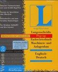Fachwörterbuch Maschinen- und Anlagenbau, Englisch-Deutsch, 1 CD-ROM