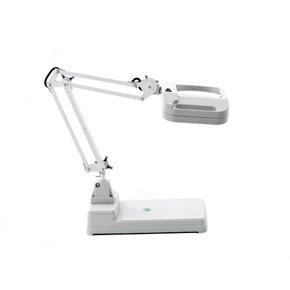 Laron S3104 Maniküre Tischlampe mit Standfuß Lupenleuchte Vergrößerungslampe optimales Licht durch 2 Neonlampen von Sagenta GmbH auf Lampenhans.de