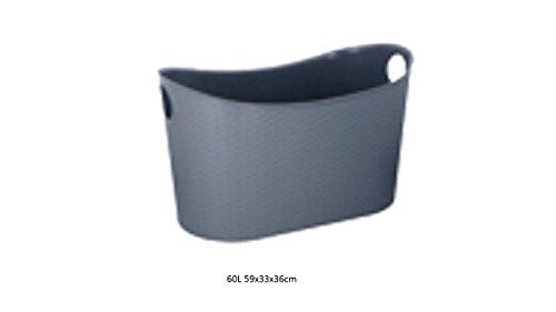 Korb mit Henkel grau 60L 59x33x36cm (60l Korb)